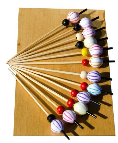 Striped Balloon bead wood skewer 12cm x100 – GOTO